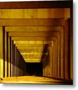 Morning Under The Bridge Metal Print