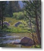 Morning View- Rock Creek Metal Print