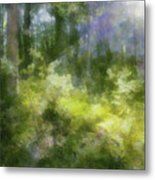 Morning Walk In The Forest Metal Print