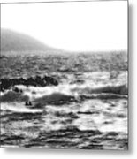 Morning Waves - Bw Diffused 04 Metal Print