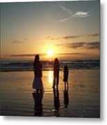 Morning With My Girls Metal Print