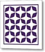 Moroccan Inlay With Border In Purple Metal Print