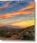 Morongo Valley Sunset Metal Print