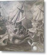 Morphological Echo At Sea Metal Print