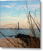 Morris Island Lighthouse In Charleston Sc Metal Print