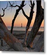 Morris Island Lighthouse Sunrise 2 Metal Print