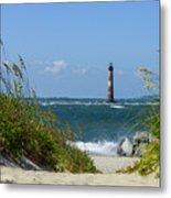 Morris Island Lighthouse Walkway Metal Print