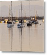 Morro Bay Boats In Early Morning Light   Metal Print