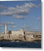 Morro Castle Havana Cuba Was Built Metal Print by Everett