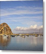 Morro Harbor And Rain Clouds Metal Print