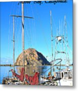 Morro Rock Morro Bay California Metal Print