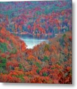 Morrow Mountain Overlook Metal Print