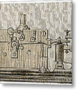 Morse Telegraph Machine, 1889 Metal Print