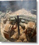 Mortar Crew In Action Metal Print
