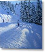 Morzine Ski Run Metal Print