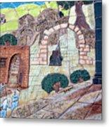Mosaic Art At Petra Metal Print