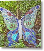 Mosaic Butterfly Metal Print