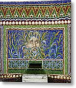 Mosaic Fountain At Getty Villa 3 Metal Print