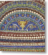 Mosaic Fountain Detail 4 Metal Print