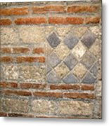 Mosaic From Pompeii Metal Print
