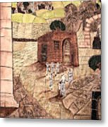 Mosaic Images At Petra Metal Print