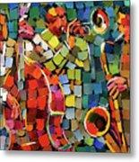 Mosaic Jazz Metal Print