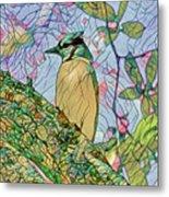 Mosaic Of Blue Jay Metal Print