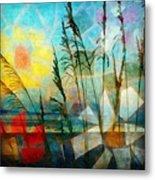 Mosaic Sea Oats Metal Print