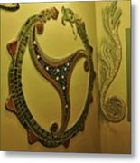 Mosaic Serpent Metal Print