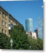 Moscow Business Centre Metal Print