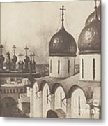 Moscow, Domes Of Churches In The Kremlin Metal Print