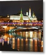 Moscow Evening, Overlooking The Kremlin. Metal Print