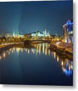 Moscow Kremlin At Night Metal Print by Alexey Kljatov