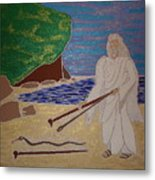Moses And Staff Metal Print