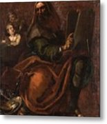 Moses Holding The Tablets Of Law Metal Print