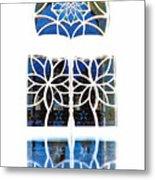 Mosque Foyer Window 1 White Metal Print