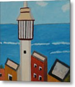 Mosque Seen From Jaffa Restaurant   Metal Print