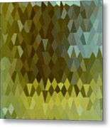 Moss Green Abstract Low Polygon Background Metal Print
