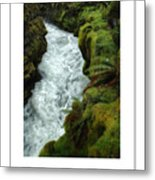 Mossy Rocks And Stream Poster Metal Print