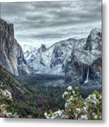 Most Beautiful Yosemite National Park Tunnel View Metal Print