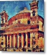 Mosta Church Metal Print
