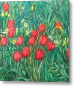 Mostly Tulips Metal Print