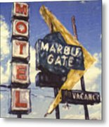 Motel Marble Gate Metal Print