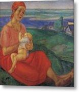 Mother 1 1913 Kuzma Sergeevich Petrov-vodkin Metal Print