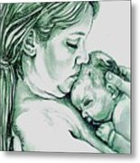 Mother And Child II Metal Print