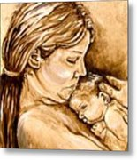 Mother And Child IIi Metal Print