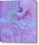 Mother And Child In Lavender Metal Print
