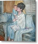 Mother And Child R Metal Print