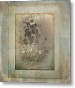 Mother And Child Reunion Vintage Frame Metal Print