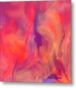 Mother And Daughter Abstract Metal Print